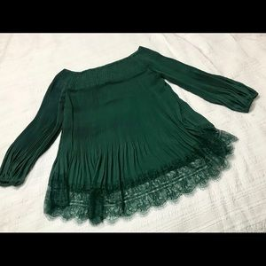 Boho-style green Alex Marie top, size S